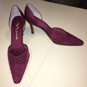 Maroon Pointed toe Dress shoe